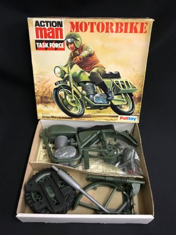 VINTAGE ACTION MAN - MOTORBIKE - BOXED UNUSED MINT